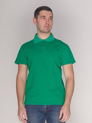 Футболка-поло зеленая | 4137533