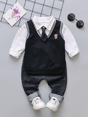 Костюм: сорочка, штани, жилет і краватка   4144609