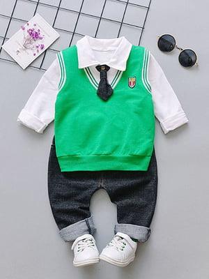 Костюм: сорочка, штани, жилет і краватка   4144612