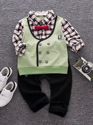 Костюм: сорочка, штани, жилет і краватка-метелик   4144645