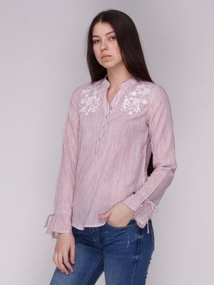 Сорочка в смужку з вишивкою | 4088862