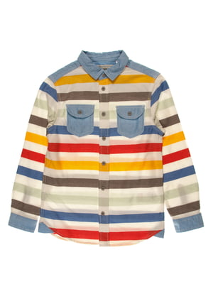 Сорочка в різнокольорову смужку | 4103351