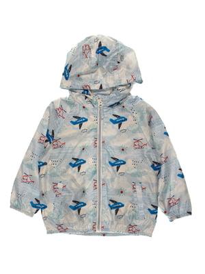 Куртка блакитна в принт   4103328