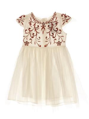 Платье белое с рисунком | 4103339