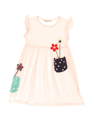 Платье розовое с цветочным принтом | 4016763