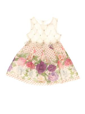 Платье в цветочный принт | 4016756