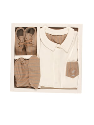Комплект: пісочник, кепка і пінетки | 4127258