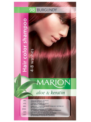 Відтіночний шампунь Marion Color №96 — бургунді (40 мл)   3809509