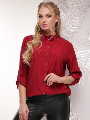 Рубашка бордовая   4151492
