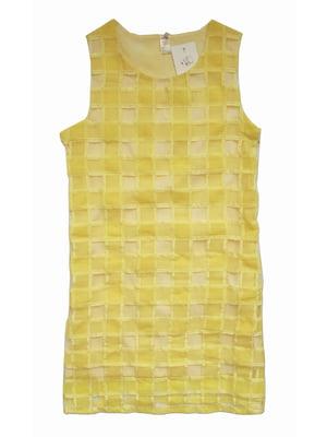 Платье желтое в клетку | 4152900