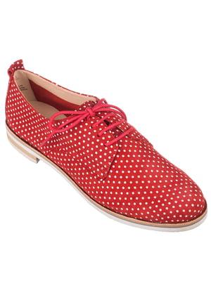 Туфлі червоні в горошок | 4153625