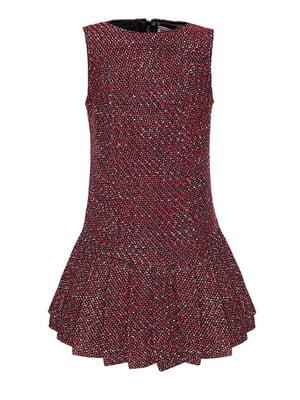 Платье красное твидовое   4159128
