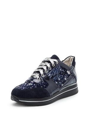 Кроссовки синие | 4161426