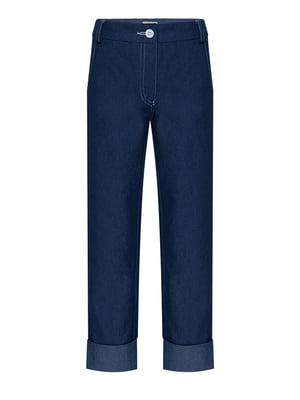 Брюки синие джинсовые   4159152