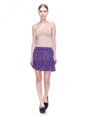 Юбка темно-фиолетовая в принт | 4122291