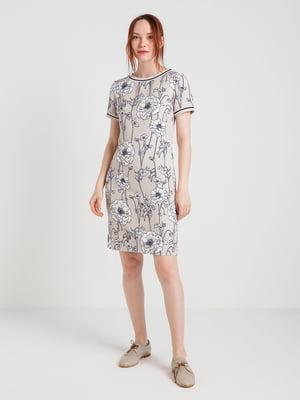 Платье в цветочный принт | 4168109