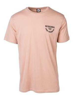 Футболка розовая с принтом | 4164467