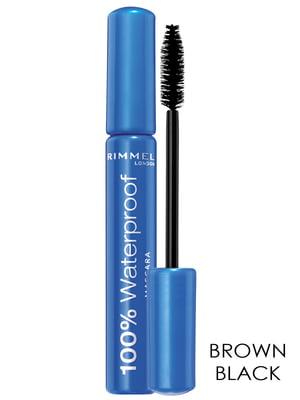 Тушь для ресниц 100% Waterproof Mascara — коричнево-черная (8 мл) | 2105762