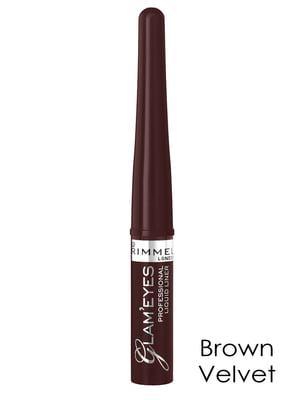 Подводка для глаз Glam`eyes Professional Liquid Liner - Brown Velvet (3,5 мл) | 2120196
