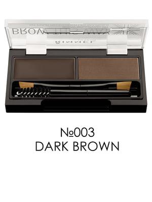 Набор для моделирования бровей Brow This Way - №003 Dark Brown (1,1 г + 1,3 г) | 2460348