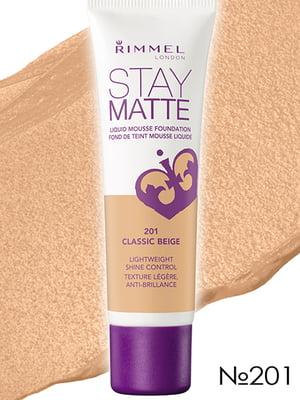 Основа тональная Stay Matte - №201 — Classic Beige (30 мл) | 2309290