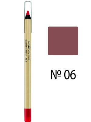 Олівець для губ Col Elixir Lip Liner - №06 - Mauve Moment (1,2 г) - Max Factor - 3925826