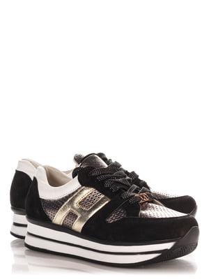 Кроссовки черно-серебристые | 4113970