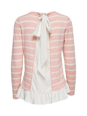 Джемпер рожевий в смужку | 3961080