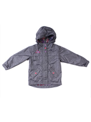 Куртка-ветровка серая | 4169417