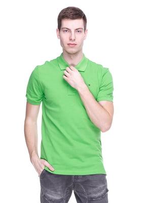 Футболка-поло зеленая | 4152512