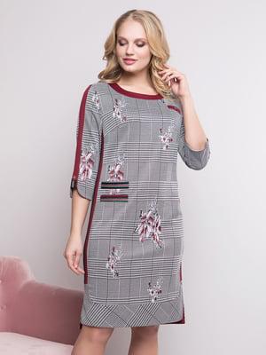 Сукня в клітку і принт | 4175750