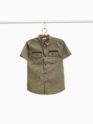 Рубашка цвета хаки | 4087147