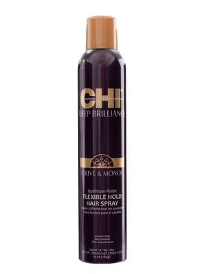 Лак для волосся гнучкої фіксації Deep Brilliance Olive & Monoi Op FlexHold (284 г) | 4178644