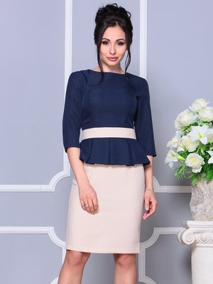 Сукня синьо-бежева | 4178060