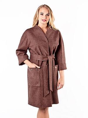 Пальто коричневое | 4182999