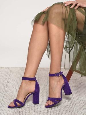 Босоножки фиолетовые | 4185211