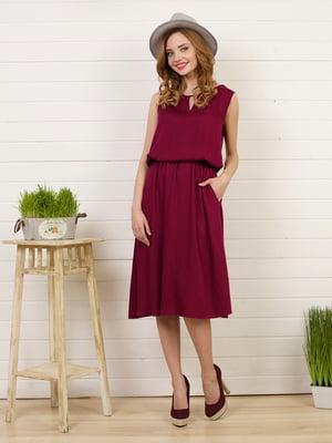 Платье бордовое | 4183030