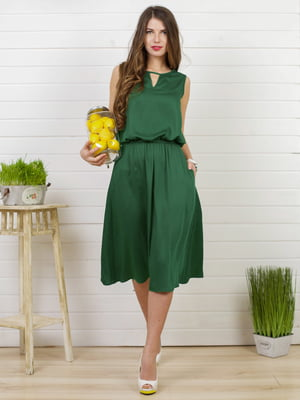 Платье изумрудного цвета | 4183032