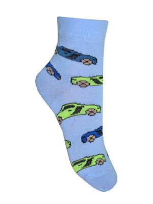 Шкарпетки блакитні в принт   4182082