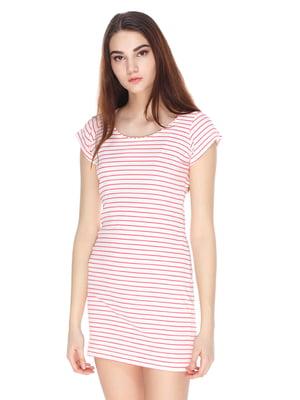Сукня пудрового кольору в смужку | 3351424