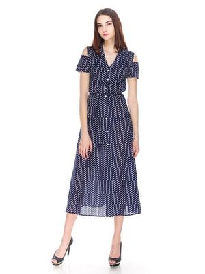 Платье синее в горошек | 4173496