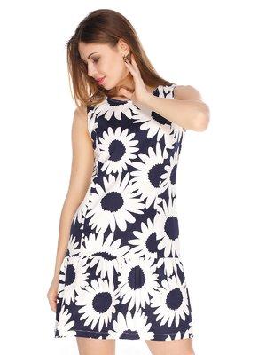 Платье синее в принт | 3351493