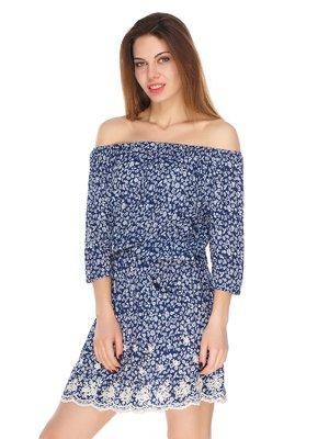 Платье синее в принт   3351507