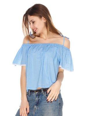 Блуза голубая | 4173462
