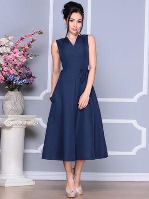 Платье темно-синее | 4186789