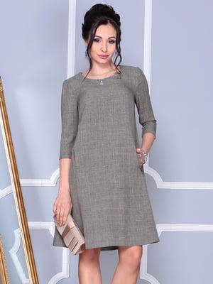 Платье цвета бежевый хаки | 4186798