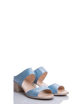 Шлепанцы голубые | 4187067
