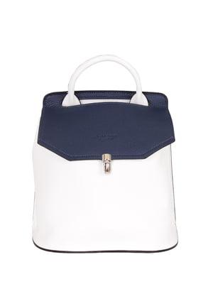 Сумка-рюкзак сине-белая | 4186146