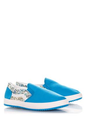 Слипоны голубые | 3395996