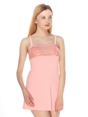 Сорочка нічна персикового кольору | 4173608